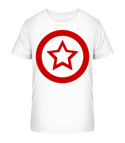 Star Icon Red - Kid's Premium Bio T-Shirt - White - Front