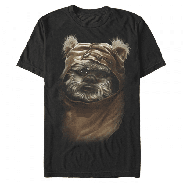 Ewok - Star Wars - Men's T-Shirt - Black - Front