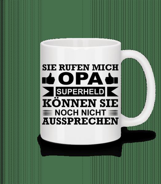 Opa Superheld - Tasse - Weiß - Vorn