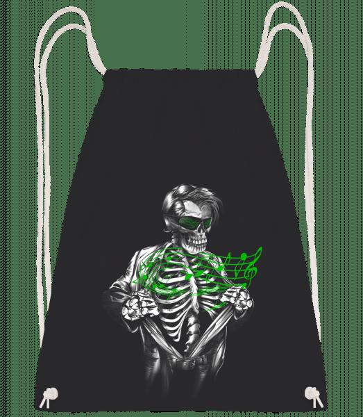 Musique Des Morts - Sac à dos Drawstring - Noir - Vorn