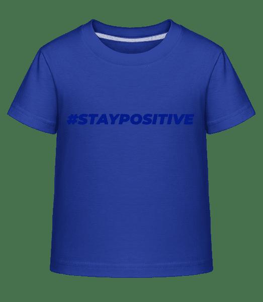 Staypositive - Kinder Shirtinator T-Shirt - Royalblau - Vorn