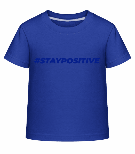 Staypositive - Kid's Shirtinator T-Shirt - Royal blue - Vorn