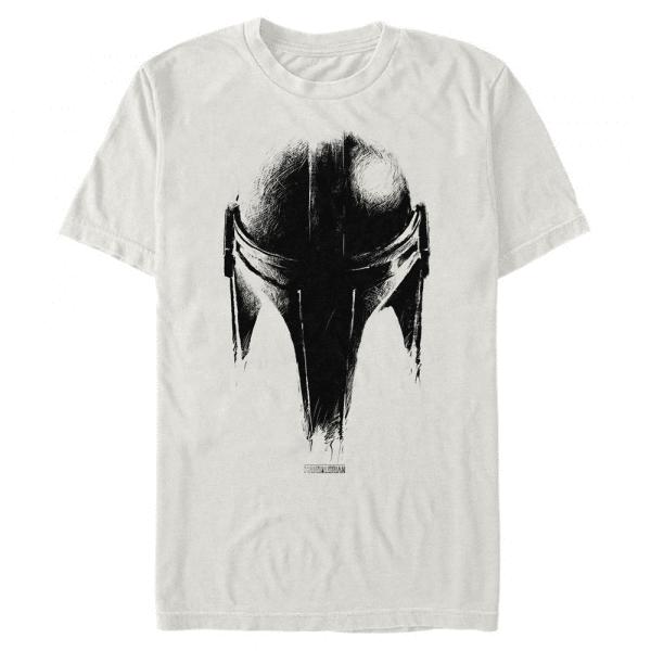Sketch Helm - Star Wars Mandalorian - Men's T-Shirt - Cream - Front