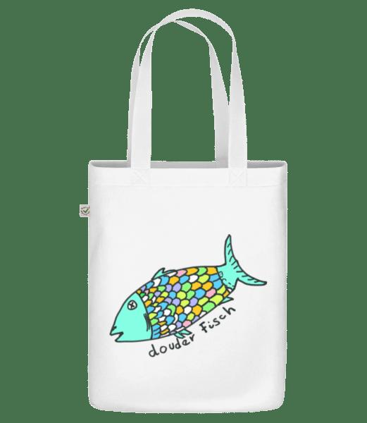 Douder Fisch - Bio Tasche - Weiß - Vorn