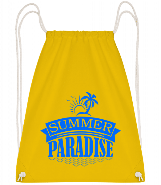 Summer Paradise Blue - Drawstring Backpack - Yellow - Vorn