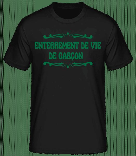 Enterrement De Vie De Garçon - T-shirt standard Homme - Noir - Vorn