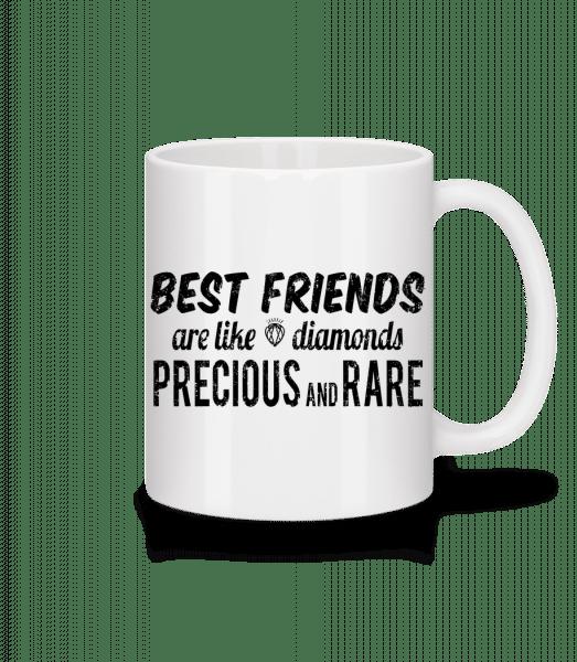 Best Friends Are Like Diamonds - Tasse - Weiß - Vorn