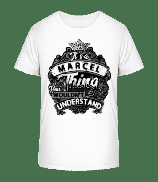 It's A Marcel Thing - Kid's Premium Bio T-Shirt - White - Vorn