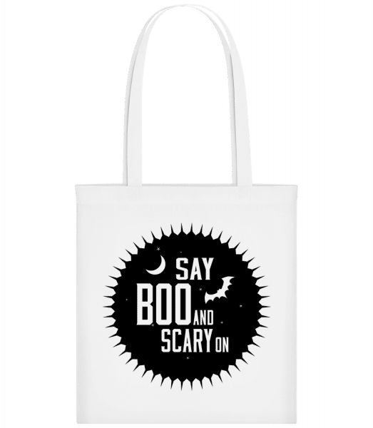 Say Boo And Scary On - Sac tote - Blanc - Devant