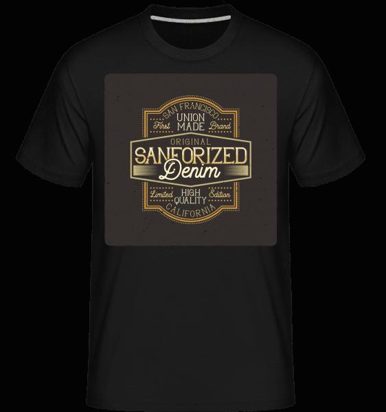 Sanforized Denim -  Shirtinator Men's T-Shirt - Black - Front