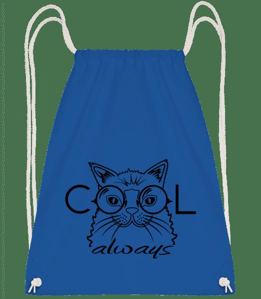 Cool Cat Always - Drawstring Backpack - Royal blue - Vorn