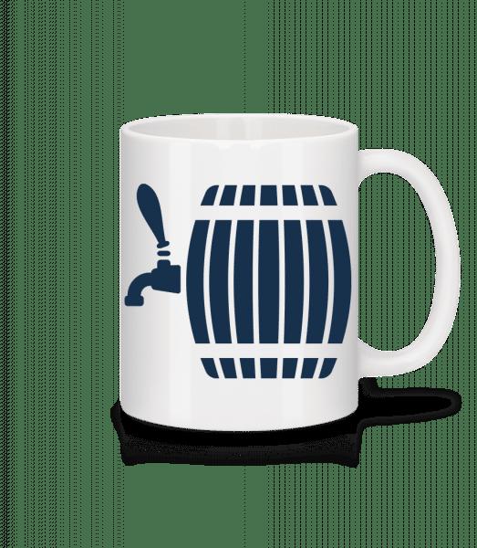 Beer Barrel - Mug - White - Vorn