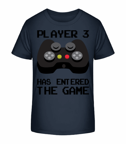 Player 3 Entered The Game - Kid's Premium Bio T-Shirt - Navy - Vorn