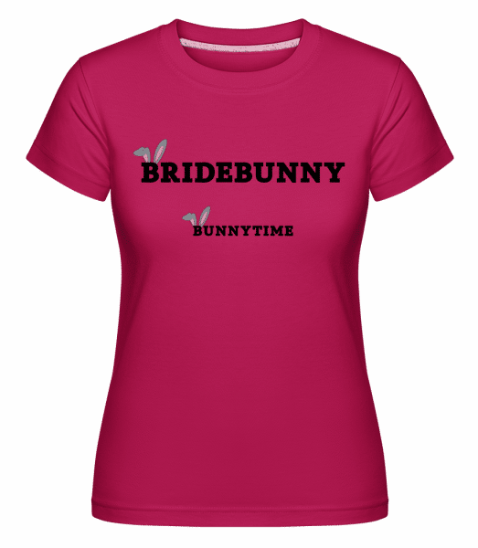 Bridebunny Bunnytime -  T-shirt Shirtinator femme - Magenta - Vorn