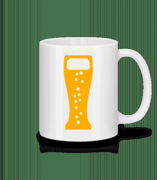 Beer Glas - Mug - White - Front