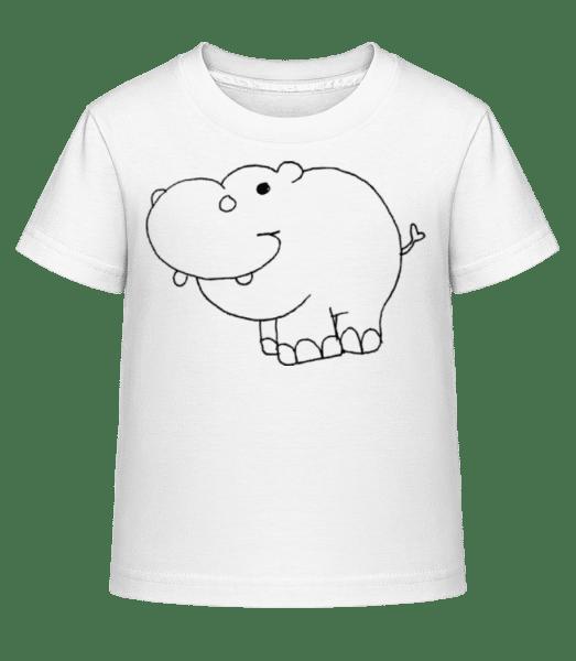 Kids Comic - Hippo - Kid's Shirtinator T-Shirt - White - Vorn