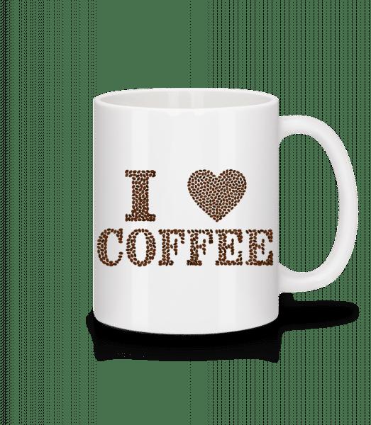 I Love Coffee - Tasse - Weiß - Vorn