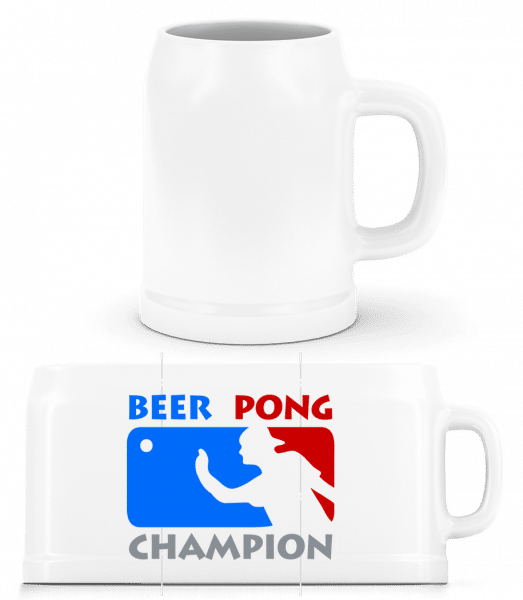 Beer Pong Champion - Beer Mug - White - Vorn