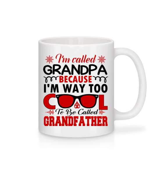 Way Too Cool Grandpa - Mug - White - Vorn