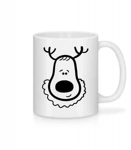 Weihnachtsrentier - Tasse - Weiß - Vorn
