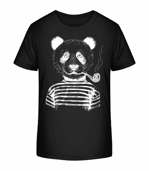Hipster Panda - Kid's Premium Bio T-Shirt - Black - Vorn