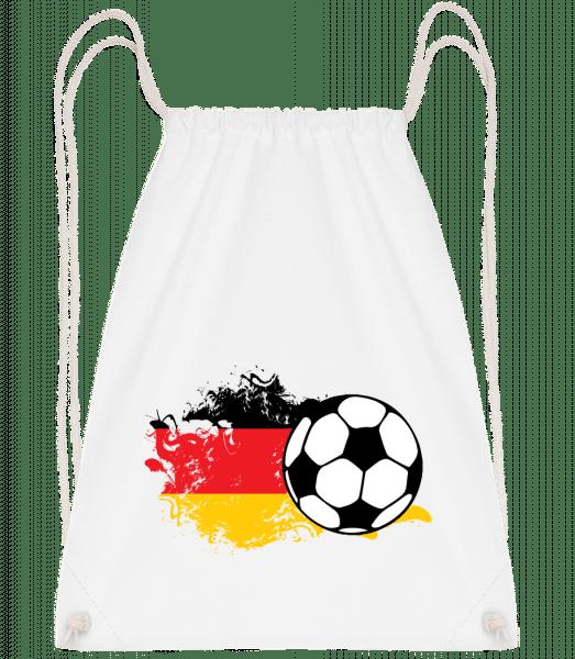 Deutschland Fahne Fußball - Turnbeutel - Weiß - Vorn