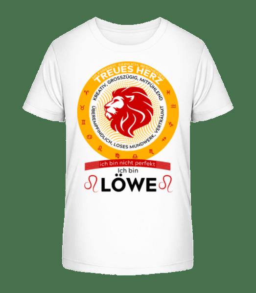Sternzeichen Löwe - Kinder Premium Bio T-Shirt - Weiß - Vorn
