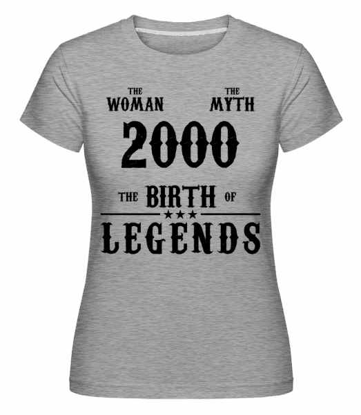 The Myth Woman 2000 - Shirtinator Frauen T-Shirt - Grau meliert - Vorn