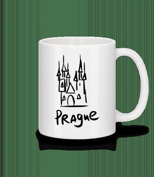 Praha s'Sign - Keramický hrnek - Bílá - Napřed