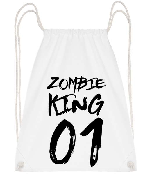 Zombie King - Drawstring Backpack - White - Vorn