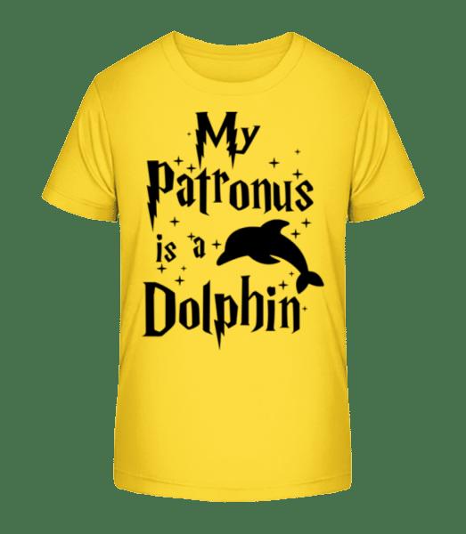 My Patronus Is A Dolphin - T-shirt bio Premium Enfant - Jaune - Vorn