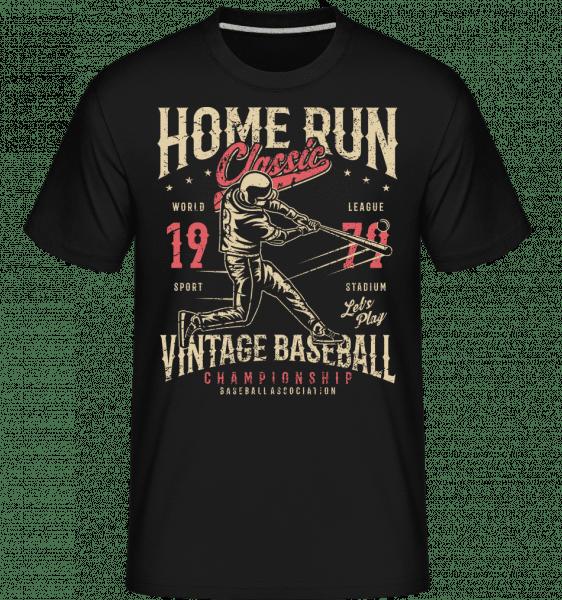 Home Run Classic -  Shirtinator Men's T-Shirt - Black - Front