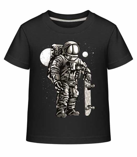 Astronaut Skater - Kid's Shirtinator T-Shirt - Black - Vorn