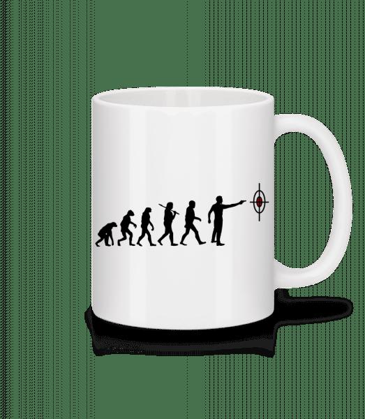 Evolution Of Shooting - Mug - White - Vorn