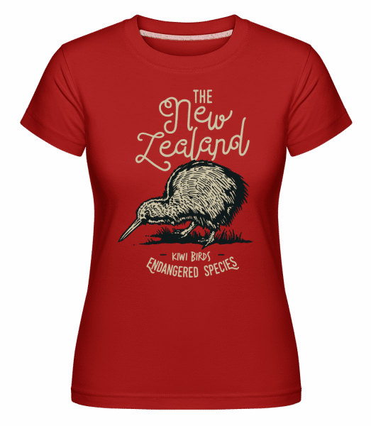 Kiwi New Zealand -  Shirtinator Women's T-Shirt - Red - Vorn