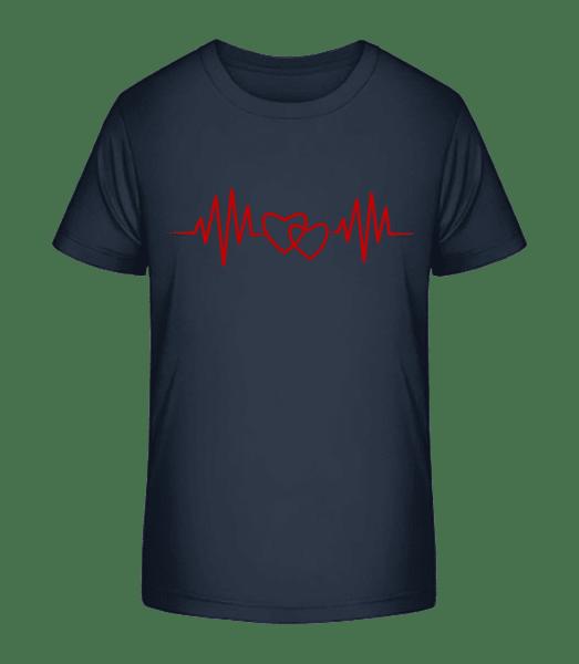Heart Rate - Kid's Premium Bio T-Shirt - Navy - Front