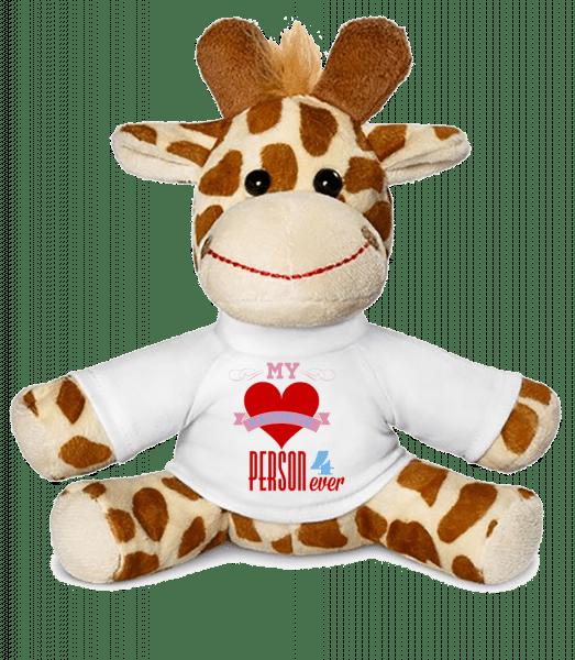 My Favorite Person 4Ever - Giraffe - White - Vorn
