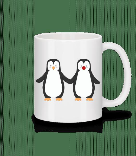 Penguin pár - Keramický hrnek - Bílá - Napřed