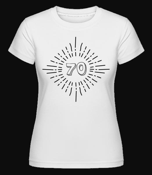 70. narozeniny -  Shirtinator tričko pro dámy - Bílá - Napřed