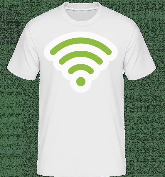 Wlan Icon Green -  Shirtinator Men's T-Shirt - White - Vorn