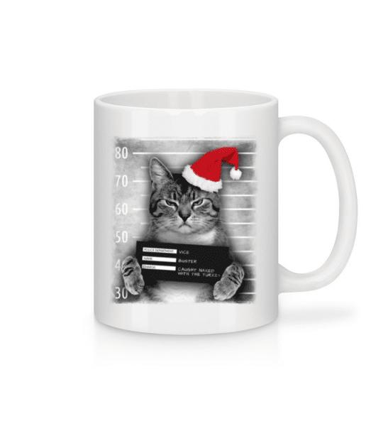 Cat XMas Guilty - Mug - White - Front