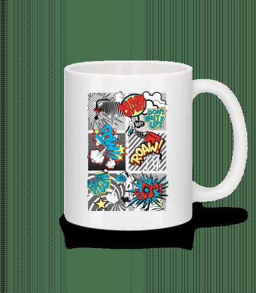Comic Tiere - Tasse - Weiß - Vorn