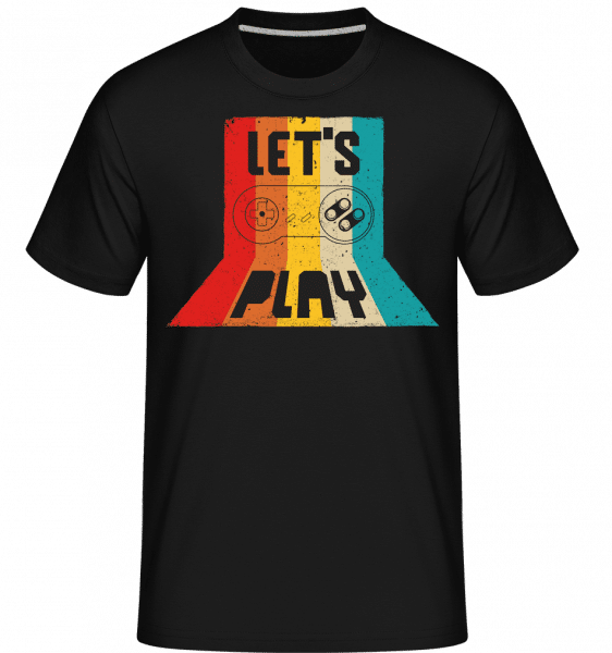 Lets Play -  Shirtinator Men's T-Shirt - Black - Front
