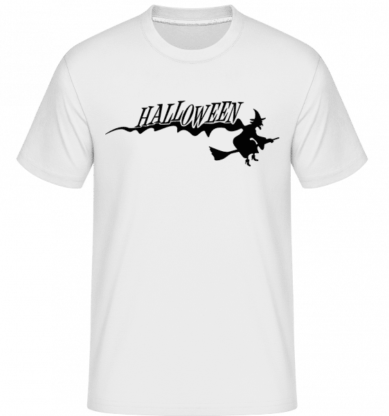 Halloween čarodějnice -  Shirtinator tričko pro pány - Bílá - Napřed