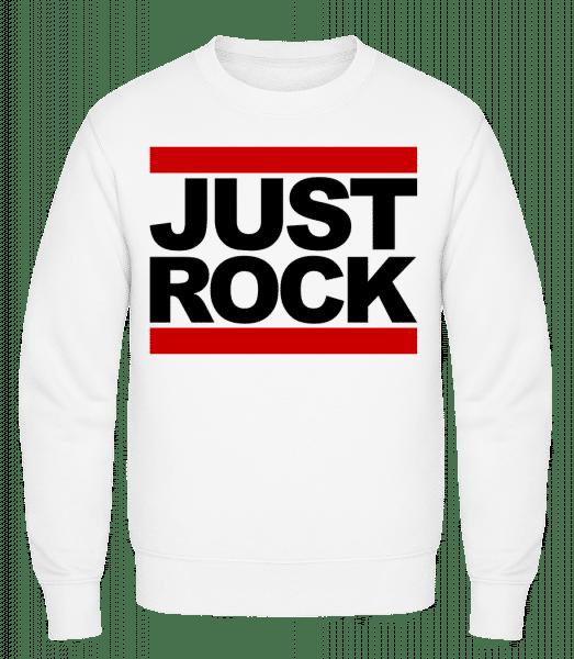 Just Rock Logo - Classic Set-In Sweatshirt - White - Vorn