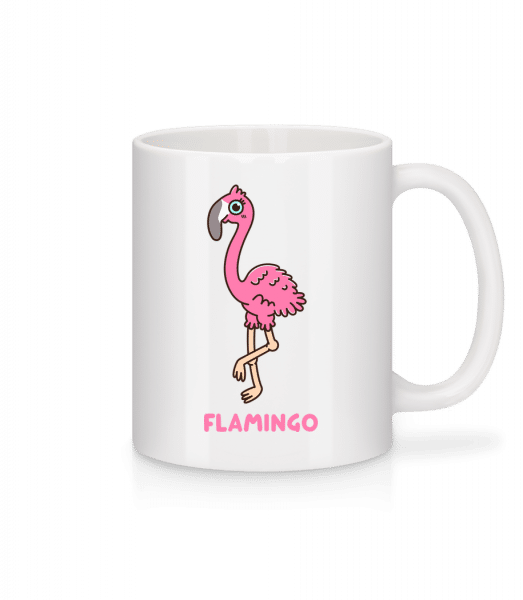 Comic Flamingo - Mug - White - Vorn