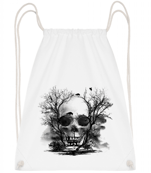 Death Trees - Drawstring Backpack - White - Vorn
