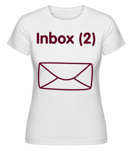 Inbox(2) - Twins Announcement -  Shirtinator Women's T-Shirt - White - Front