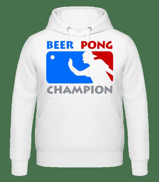 Beer Pong Champion - Hoodie - White - Vorn