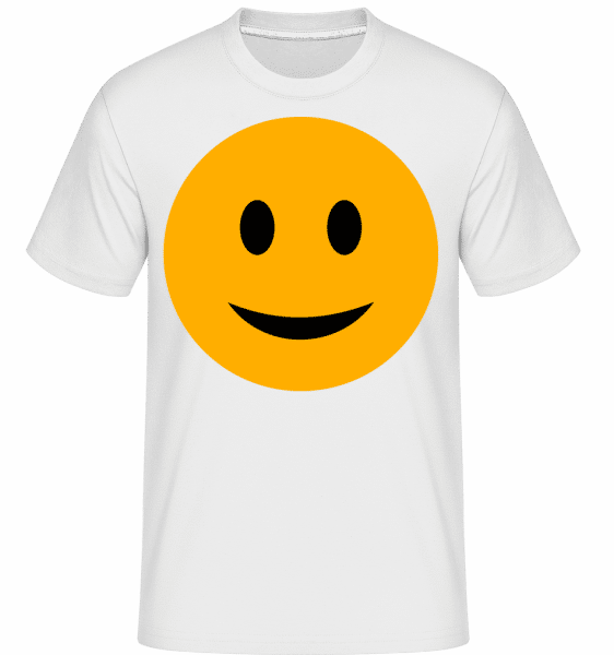 šťastný Smiley -  Shirtinator tričko pre pánov - Biela - Predné